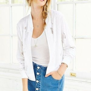 New KIMCHI BLUE Urban Outfitters White Jacket